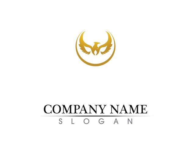 Сокол крыло логотип шаблон вектор значок дизайн Premium векторы
