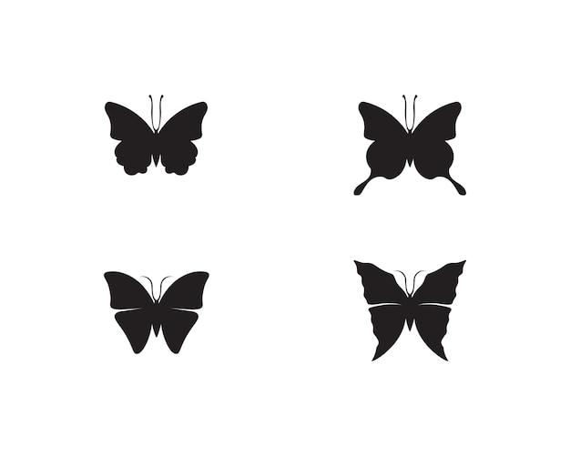 蝶の概念的なシンプルでカラフルなアイコン。ロゴ。 Premiumベクター
