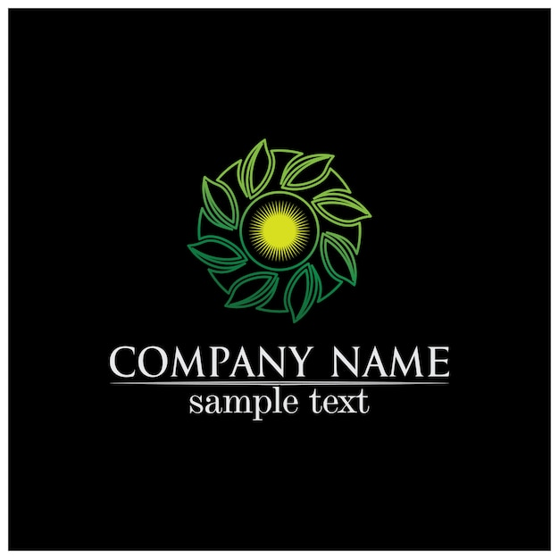 Листья дерева вектор дизайн эко дружественных концепции логотип Premium векторы