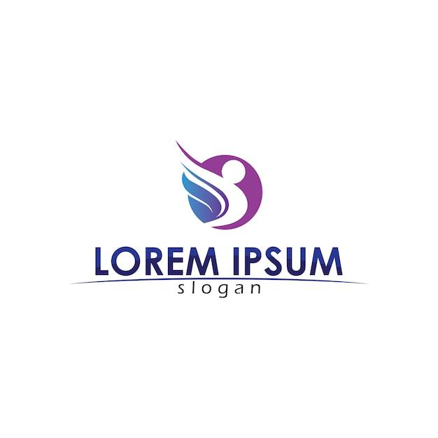 Люди заботятся об успехе здоровья и жизни шаблонов логотипов Premium векторы