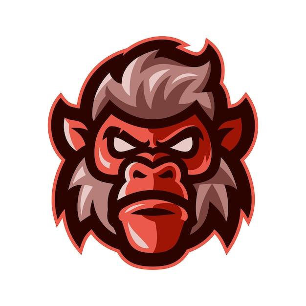 猿の頭のマスコットのロゴのベクトル Premiumベクター