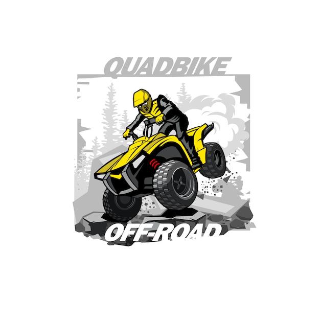 クワッドバイクオフロードロゴ Premiumベクター