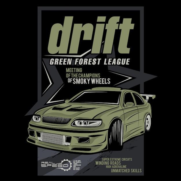 ドリフトグリーンフォレストリーグ Premiumベクター
