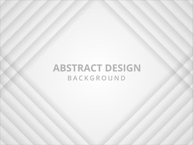 Абстрактный геометрический белый и серый фон Premium векторы