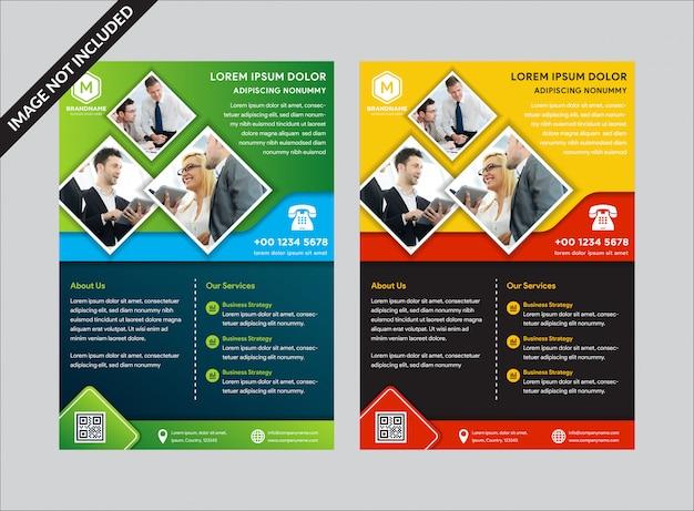 Набор абстрактных бизнес флаер шаблон. Premium векторы
