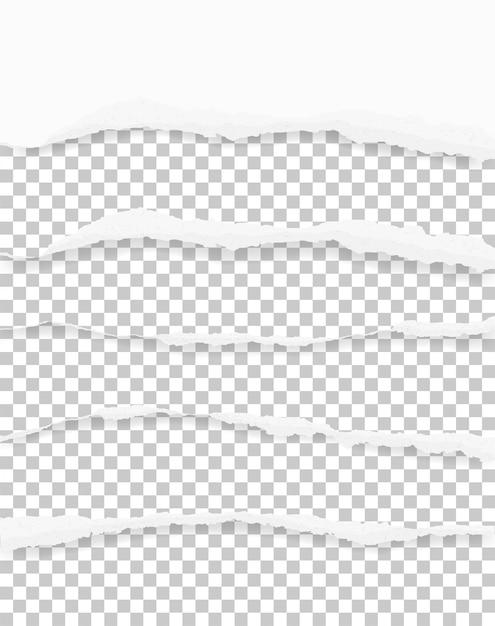 コピースペースのために背景のために紙の端が引き裂かれた Premiumベクター