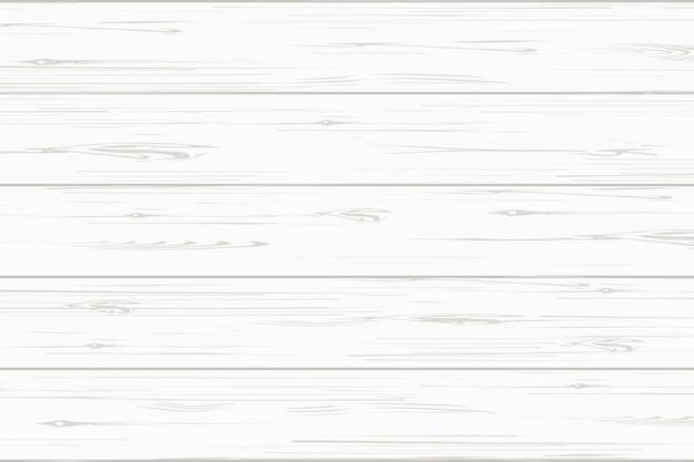 白い木の板テクスチャ背景。 Premiumベクター