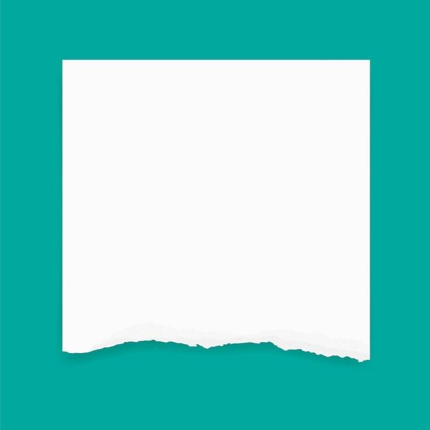 背景のために紙の端を引き裂いた。リップされた紙のテクスチャの背景。 Premiumベクター
