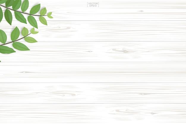 自然の背景のための緑の葉の木の板のパターンとテクスチャ。 Premiumベクター
