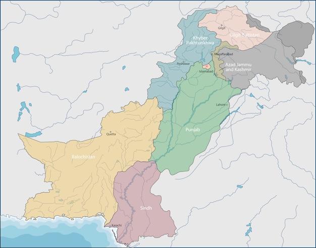 パキスタンの地図 Premiumベクター