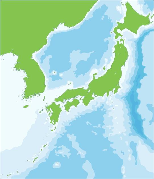 日本の領土のベクトルイラストマップ Premiumベクター