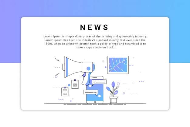Дизайн вектор новостей Premium векторы