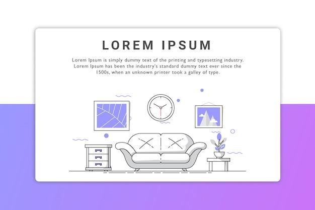Домашняя целевая страница Premium векторы