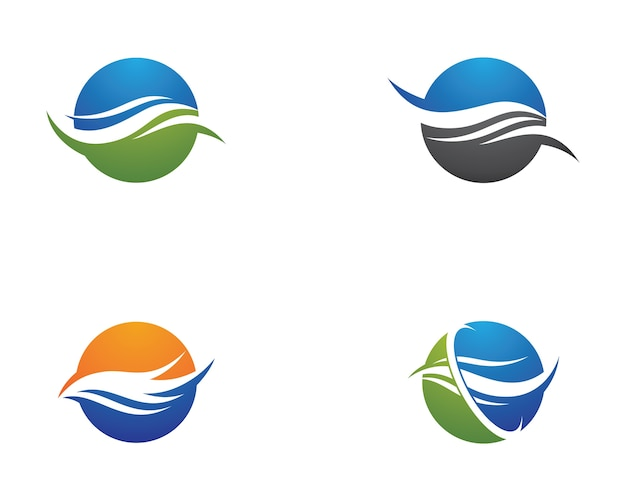 Иллюстрация символа волны Premium векторы