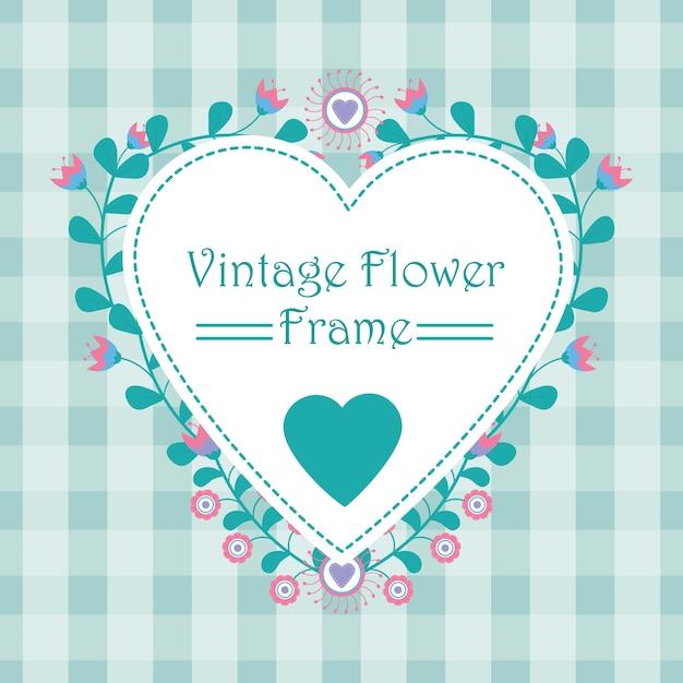 花のフレームバナー Premiumベクター