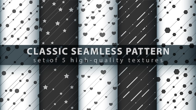 古典的な愛心のシームレスパターン Premiumベクター