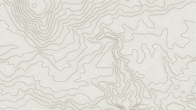 抽象的な地形図の標高線 Premiumベクター