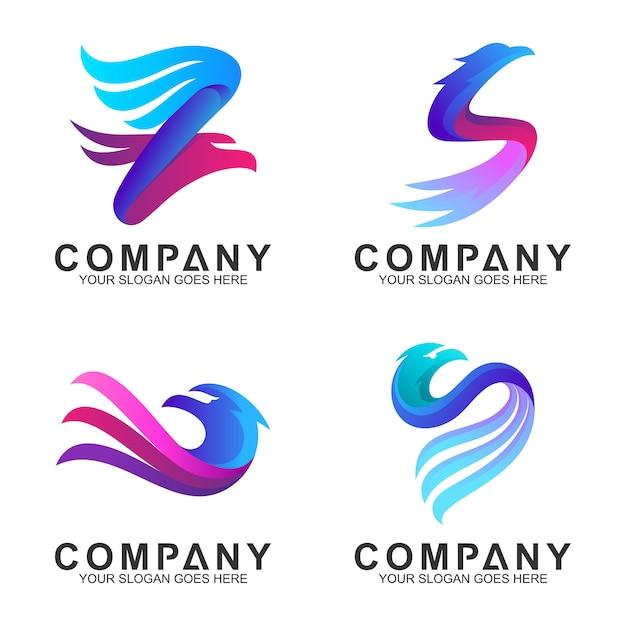 エレガントなワシのロゴデザイン Premiumベクター