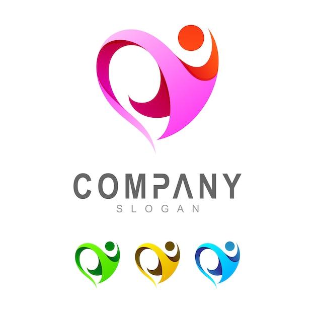 Шаблон логотипа сердца Premium векторы