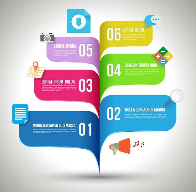 ビジネスコンセプトインフォグラフィックテンプレート Premiumベクター