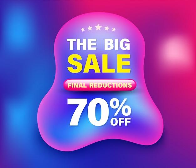 Большой баннер продажа на абстрактном фоне сетки Premium векторы