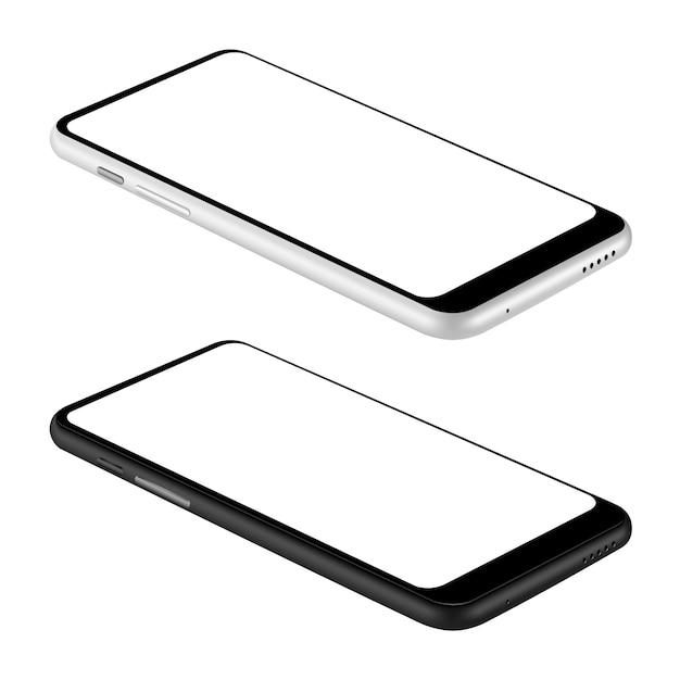 Серые и черные смартфоны Premium векторы