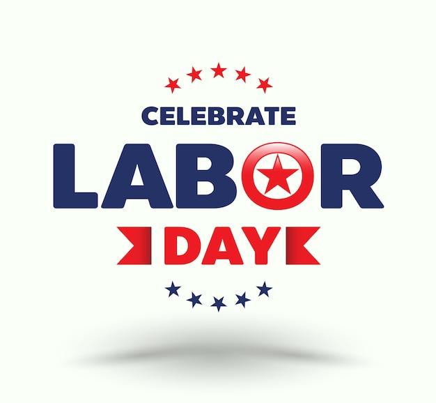 労働日を祝う Premiumベクター
