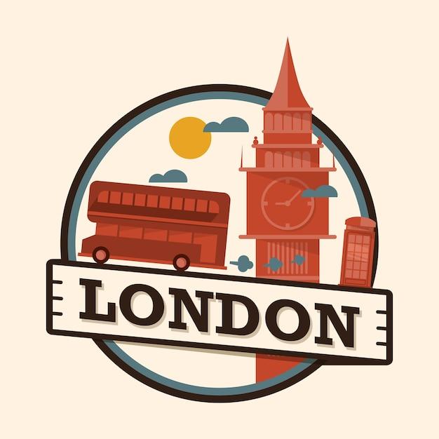 Лондонский городской значок, англия Premium векторы