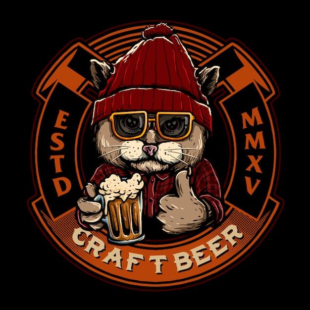 Эмблема эмблемы пива Premium векторы