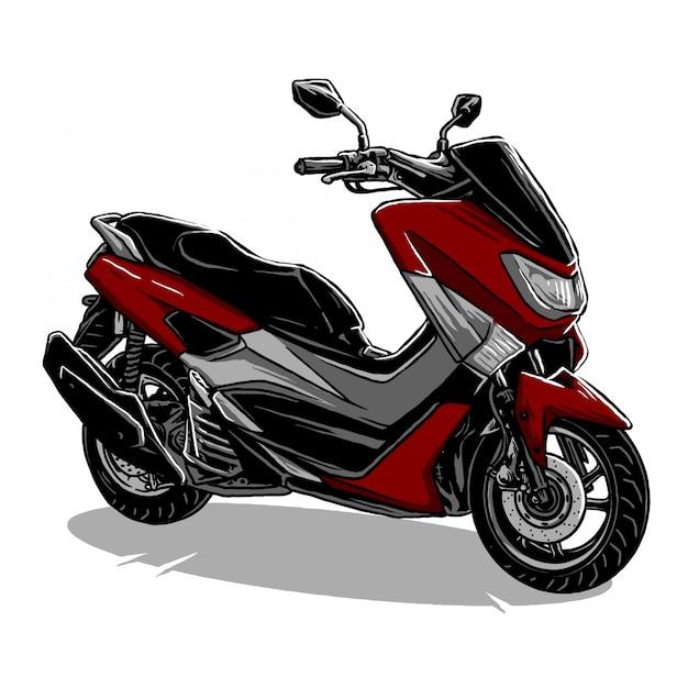 スクーターのオートバイのベクトル Premiumベクター
