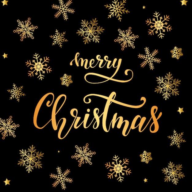 エレガントなメリークリスマスのグリーティングカードデザイン Premiumベクター