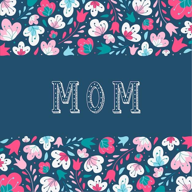 Красивая открытка на день матери Premium векторы