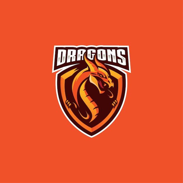 ドラゴンのロゴ Premiumベクター
