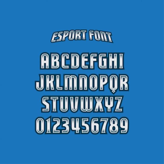 フォントのタイポグラフィをエクスポートします Premiumベクター