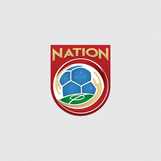 サッカー協会のロゴ Premiumベクター