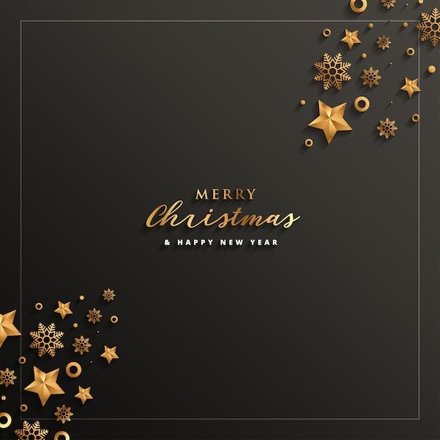 メリークリスマスと新年あけましておめでとうございます Premiumベクター