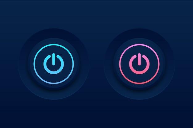暗闇の中で押しボタン Premiumベクター