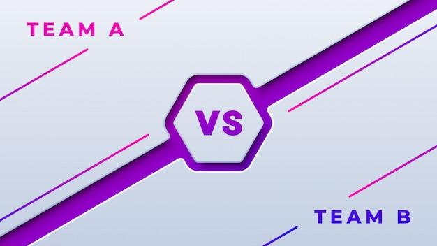Спортивные соревнования против белого и фиолетового фона Premium векторы