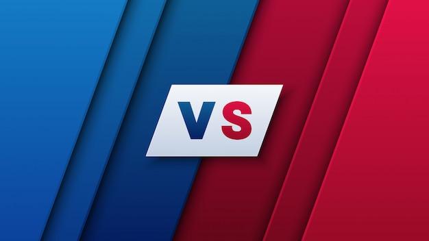 В сравнении с буквами для спорта на красном и синем фоне Premium векторы
