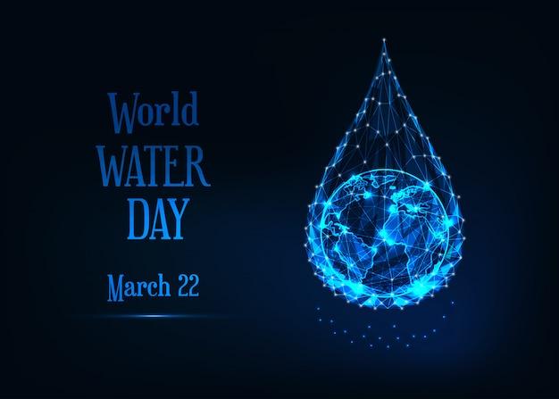 Шаблон баннера всемирного дня воды Premium векторы