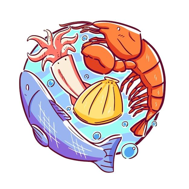 海の動物 Premiumベクター