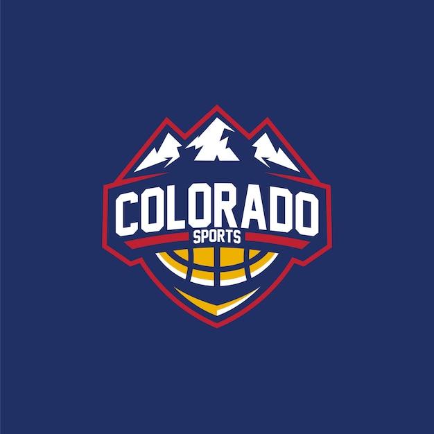 ロゴバスケットボールコロラドスポーツ Premiumベクター