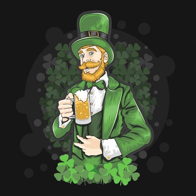 聖パトリックの日ビールパーティー Premiumベクター