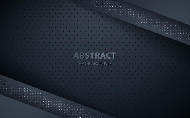 Темный фон слоев наложения с серебряными блестками Premium векторы