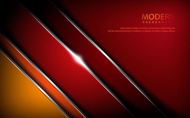 赤い金属の抽象的な背景 Premiumベクター
