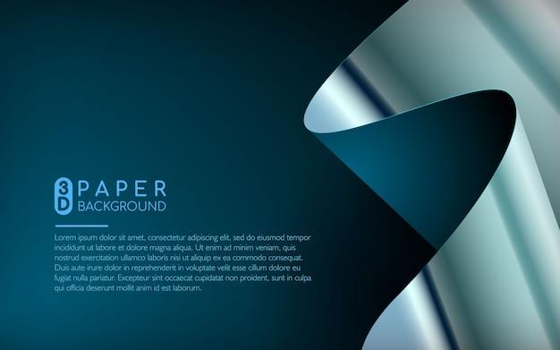 抽象的な青い紙の背景 Premiumベクター