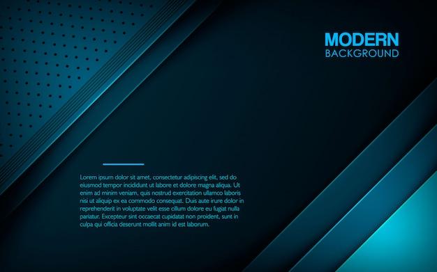 モダンなブルーのテクスチャード加工のレイヤーオーバーラップの背景 Premiumベクター