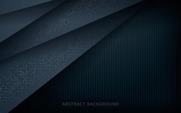 銀の輝きを持つ抽象的なオーバーラップ層 Premiumベクター