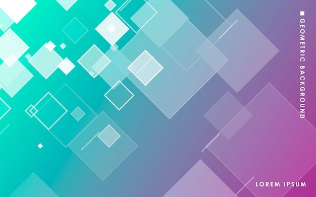 抽象的な正方形のグラデーションの背景 Premiumベクター