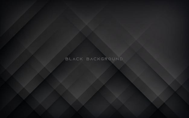 モダンな抽象的な斜めの黒の背景 Premiumベクター